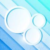 Lignes et cercles de papier bleu d'Aqua Image stock