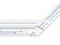 Lignes et flèches v.1 Images stock