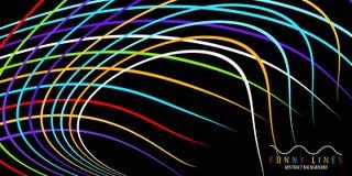 Lignes et fond abstraits colorés géométriques de courbes illustration stock