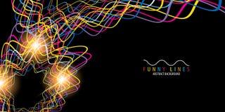 Lignes et fond abstraits colorés géométriques de courbes illustration libre de droits