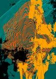 Lignes et fond coloré abstrait de taches Photos libres de droits