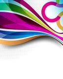 Lignes et fond multicolores de concept d'ondes Photo libre de droits