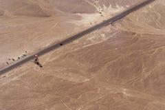 Lignes et geoglyphs de Nazca Images libres de droits