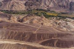 Lignes et geoglyphs de Nazca Photographie stock libre de droits