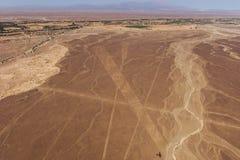 Lignes et geoglyphs de Nazca Photo libre de droits