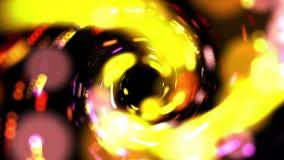 Lignes et points colorés tournants 4K de belle lueur clips vidéos