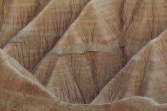 Lignes et textures dans Bardenas Reales photographie stock libre de droits