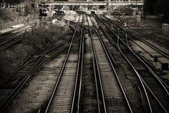Lignes ferroviaires image stock