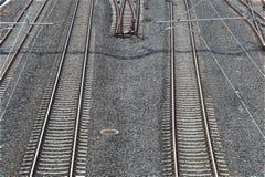 Lignes ferroviaires parallèles Image libre de droits