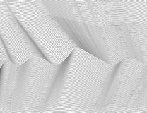 Lignes foncées abstraites onduleuses Modèle de rayures de texture de vecteur, fond blanc d'isolement Capable recouvrir, facile de illustration stock