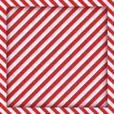 Lignes géométriques abstraites avec les rayures noires et rouges diagonales Le cadre carré Illustration de vecteur Image stock