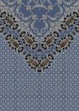 Lignes géométriques baroques de conception bleue baroque illustration de vecteur