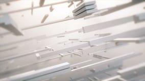 Lignes géométriques tournantes avec la couleur lumineuse et les bords mous illustration de vecteur