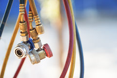 Lignes hydrauliques Photos libres de droits