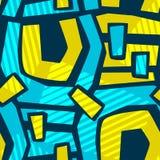 Lignes incurvées géométriques métier sans couture I expressif de main de graffiti illustration stock