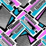 Lignes incurvées géométriques métier sans couture I expressif de main de graffiti illustration libre de droits