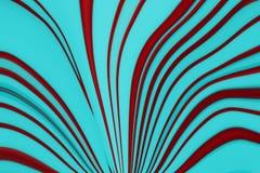 Lignes incurvées par rouge abstrait sur le fond bleu Photographie stock libre de droits