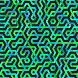 Lignes irrégulières multicolores sans couture modèle de vecteur Images libres de droits