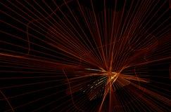 Lignes jaunes rougeâtres dynamiques abstraites Images libres de droits