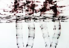 Lignes larges paysage abstrait tiré Deux personnes sont reflétées dans un magma après pluie photo libre de droits