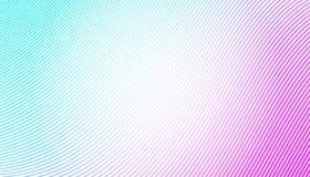 Lignes minces colorées au-dessus du fond blanc Abrégez les ondes Photo libre de droits