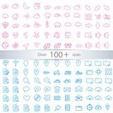 Lignes minces icônes de Web réglées Image stock