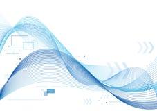 Lignes molles bleues fond Images libres de droits