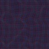 Lignes multicolores abstraites courbe de vague de modèle de grille sur le backgr foncé Photo libre de droits