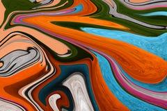 Lignes multicolores Photo colorée Le jeu de couleurs Images stock