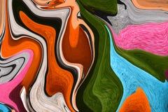 Lignes multicolores Photo colorée Le jeu de couleurs Image stock