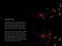 Lignes musicales Image libre de droits