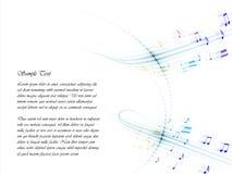 Lignes musicales Images libres de droits