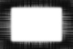 Lignes noires approximatives cadre Image stock