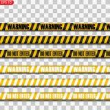 Lignes noires et jaunes de précaution illustration libre de droits
