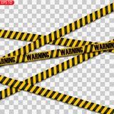 Lignes noires et jaunes de précaution d'isolement illustration libre de droits