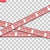 Lignes noires et rouges de précaution illustration libre de droits