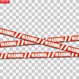 Lignes noires et rouges de précaution illustration stock