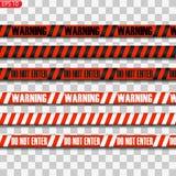 Lignes noires et rouges de précaution illustration de vecteur