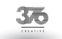 376 lignes nombre noires et blanches Logo Design Illustration de Vecteur