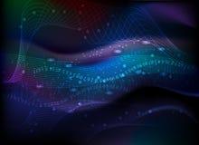 lignes numéros colorées de fond abstrait Image libre de droits
