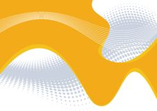 Lignes ondulées oranges abstraites Photos stock