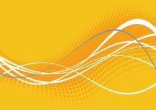 Lignes ondulées oranges lumineuses Images libres de droits