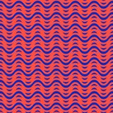 Lignes onduleuses color?es mod?le sans couture Texture de vecteur avec les vagues lumineuses, rayures illustration libre de droits