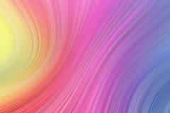 Lignes onduleuses douces de fond coloré Formes incurvées et droites multicolores illustration libre de droits