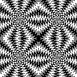 Lignes onduleuses monochromes sans couture L'illusion visuelle du mouvement Approprié au textile, au tissu, à l'emballage et au w Photographie stock