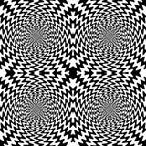 Lignes onduleuses noires et blanches sans couture Illustration Libre de Droits