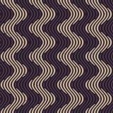 Lignes onduleuses rétro modèle de Grey Color Hand Drawn Engraving de marine sans couture de vecteur Photo libre de droits