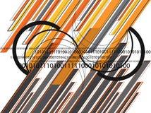 Lignes oranges graphiques 01 de gris Photo libre de droits