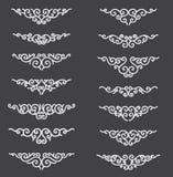 Lignes ornementales de règle Éléments décoratifs de conception de vecteur - vecteur Frontière et diviseur Effet plat de réflexion illustration libre de droits