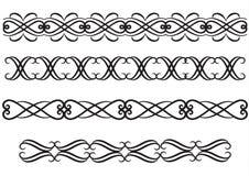 Lignes ou cadres élégants de règle Image stock
